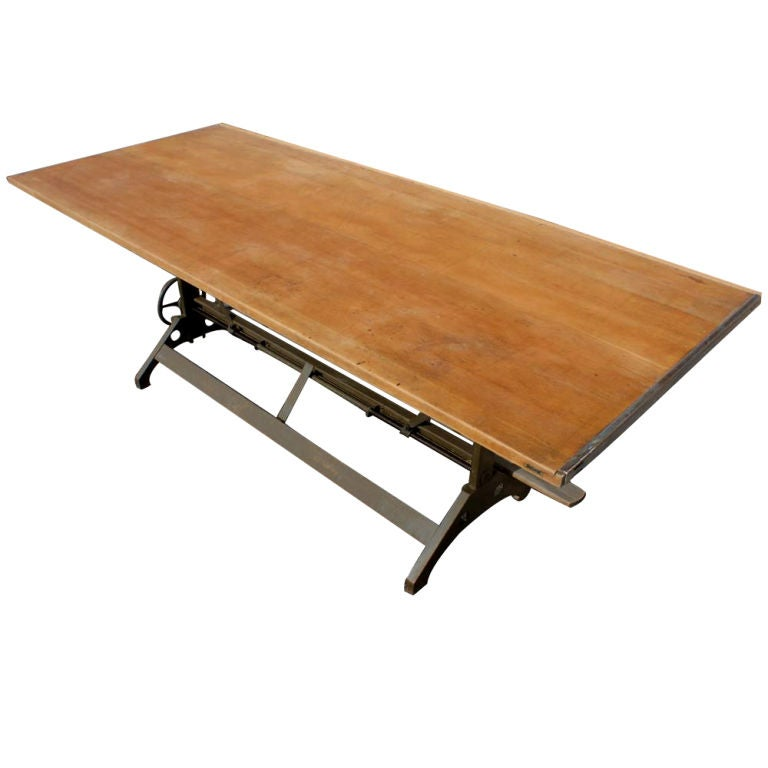 Industrial Age Large Hamilton Drafting Table Image 2