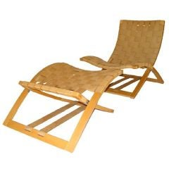 Ingmar Relling for Westnofa Folding Lounge Chair and Ottoman