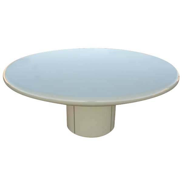 Large Round Composition Indoor Outdoor Dining Table At 1stdibs