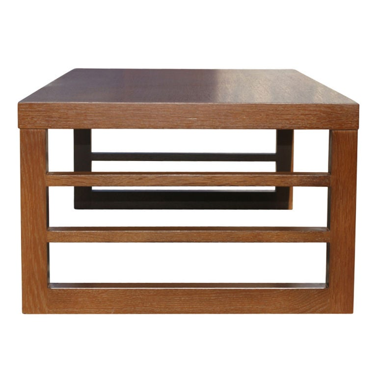 Vintage Red Lion Combed Oak Coffee Table For Sale At 1stdibs