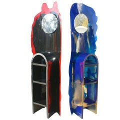 Pair Of Gaetano Pesce For Zerodisegno Nobody's Guardian Totems 40% off