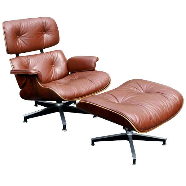 Herman miller rosewood eames lounge chair and ottoman at 1stdibs - Eames lounge chair prix ...
