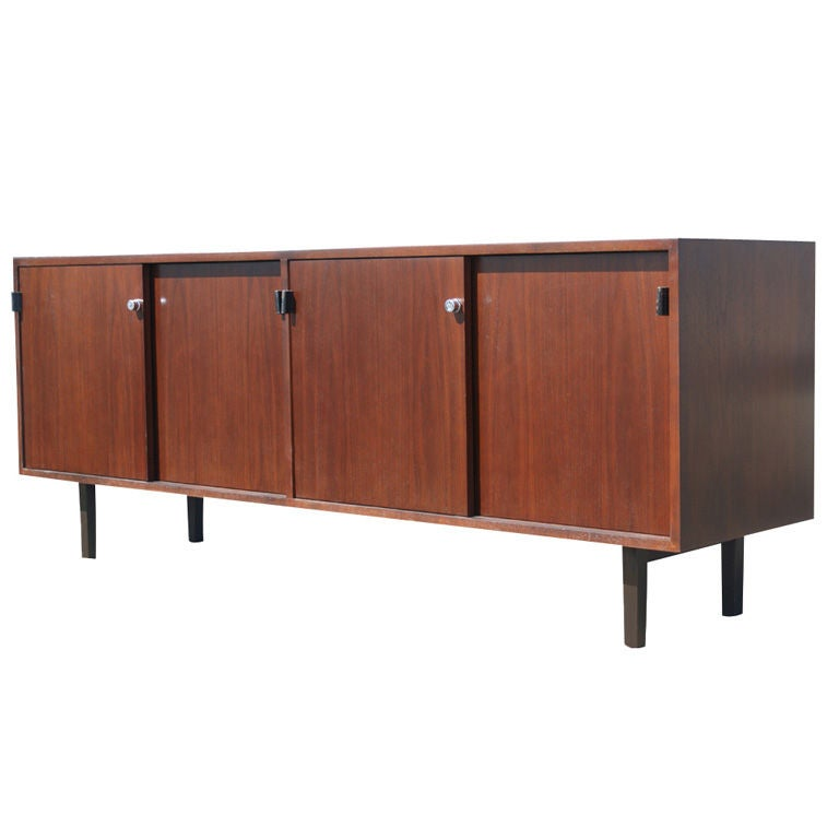 florence knoll for knoll walnut credenza buffet at 1stdibs