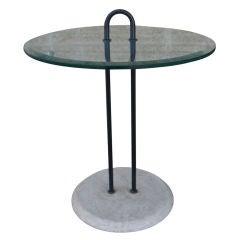 Vico Magistretti for Cattelan Italia Glass Side Table