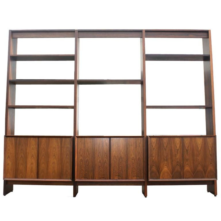 Large Scandinavian Wall Unit At 1stdibs