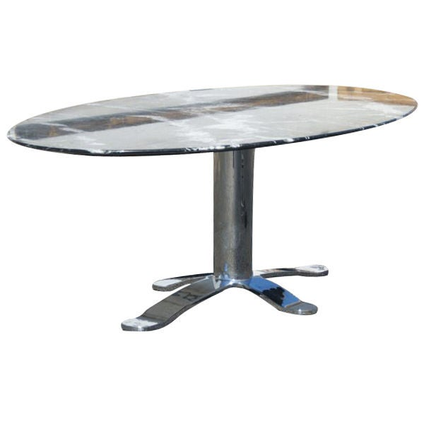 Nicos Zographos Oval Marble Dining Conference Table At 1stdibs