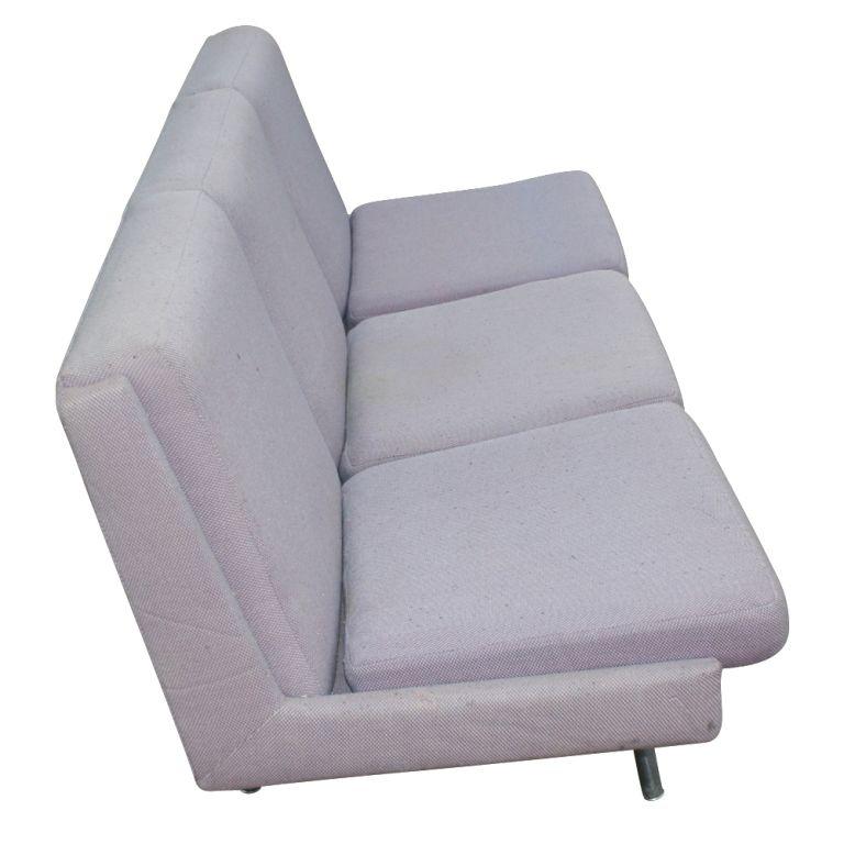 Mid-Century Modern Hans Wegner Danish Armless Sofa For Sale