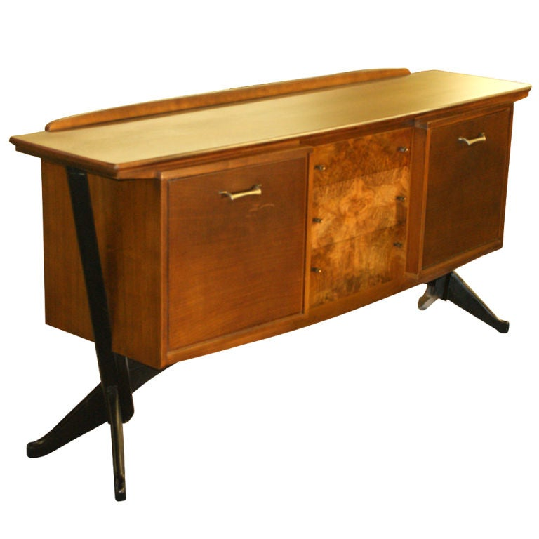 Danish Modern Bar Cabinet Mid Century Modern Walnut And Burl Bar Liquor Cabinet At 1Stdibs