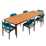Erik Buck For Povl Dinesen Teak Dining Table And Six Chairs