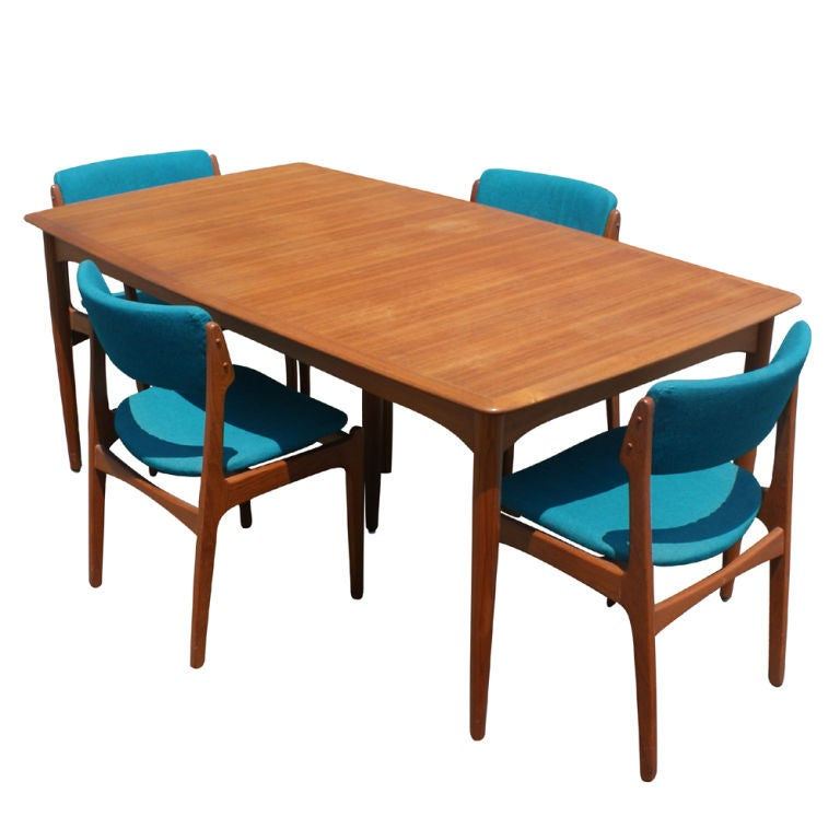 Erik Buck For Povl Dinesen Teak Dining Table And Six Chairs 2