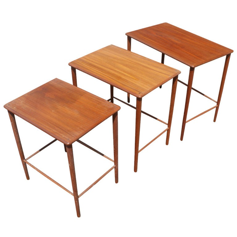 A Set Of Mid Century Modern Scandinavian Nesting Tables Designed By Grete  Jalk For P Great Pictures