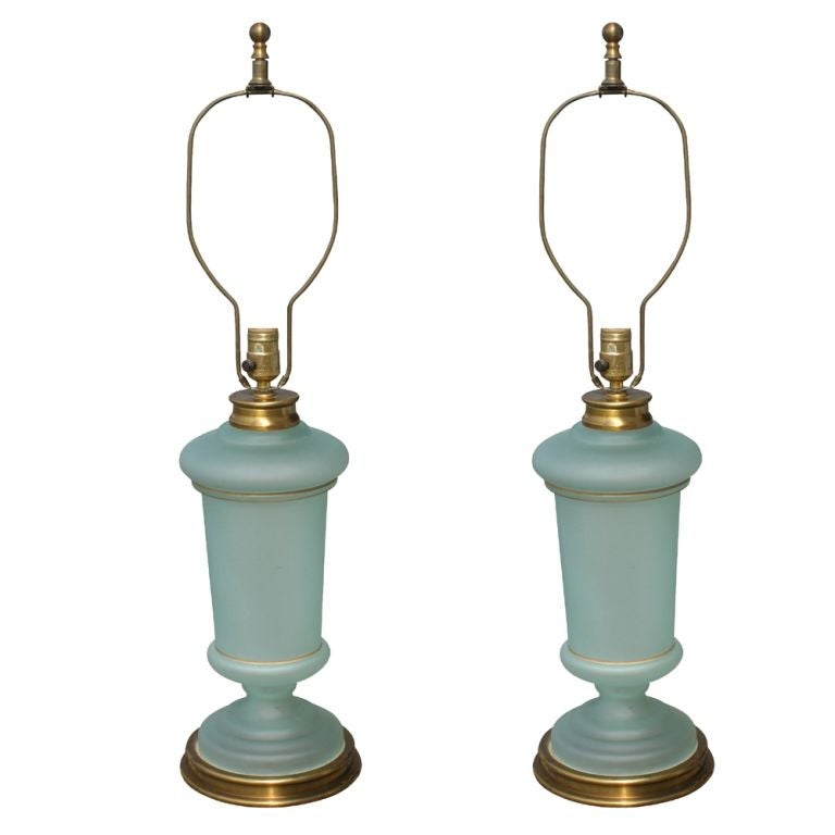 pair of paul hanson table lamps at 1stdibs. Black Bedroom Furniture Sets. Home Design Ideas