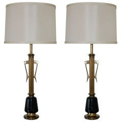 Massive Vintage Hollywood Regency Table Lamps by Rembrandt