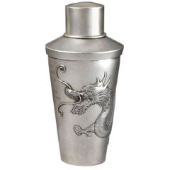 Sterling silver chinese dragon cocktail shaker