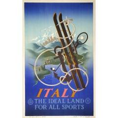 Original 'Italy' poster A. M. Cassandre, 1933