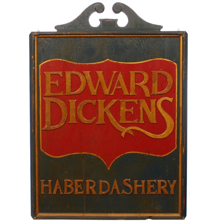 Edward Dickens Haberdashery Trade Sign At 1stdibs