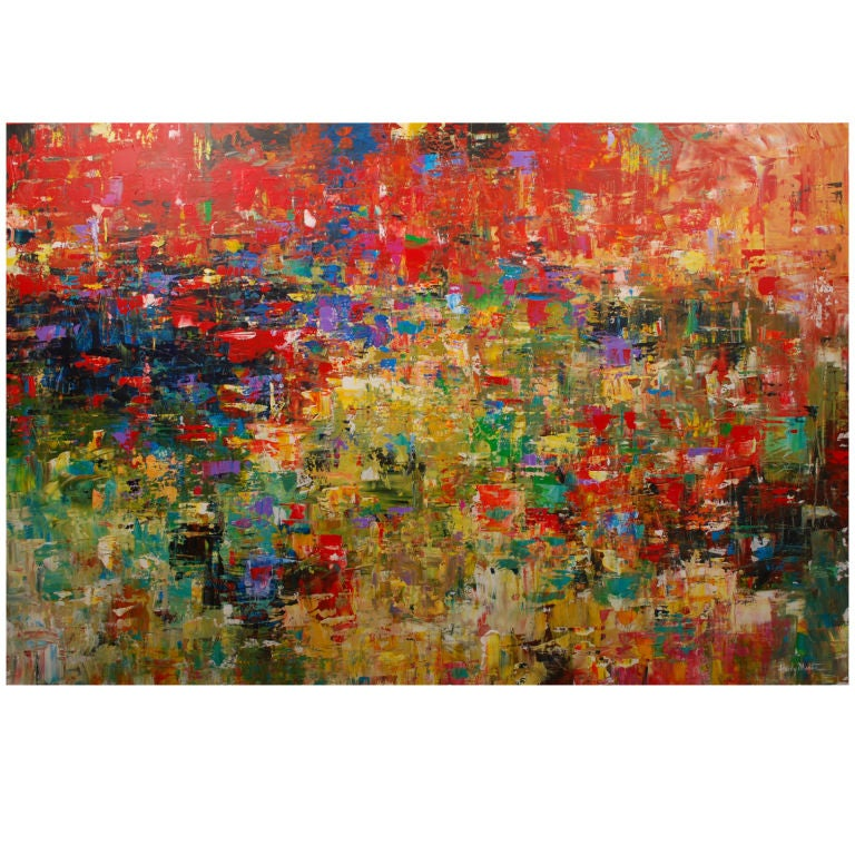 Large Original Abstract Painting Signed At 1stdibs