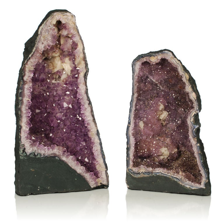 Two large Purple Amethyst Geodes from Brazil image 2