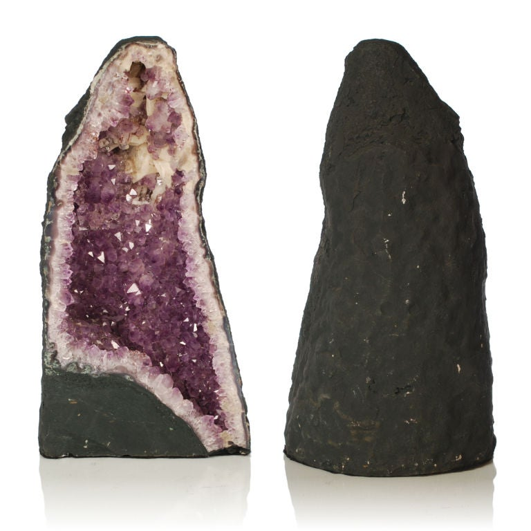 Two large Purple Amethyst Geodes from Brazil image 3