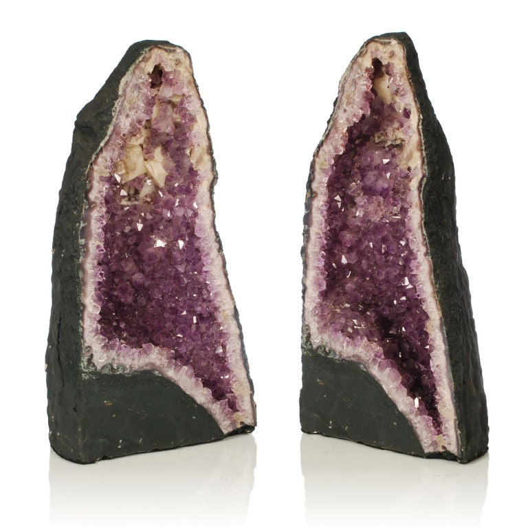 Two large Purple Amethyst Geodes from Brazil image 4