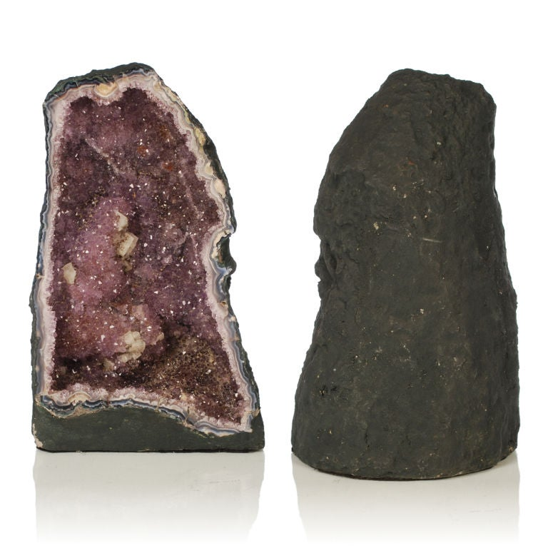 Two large Purple Amethyst Geodes from Brazil image 7