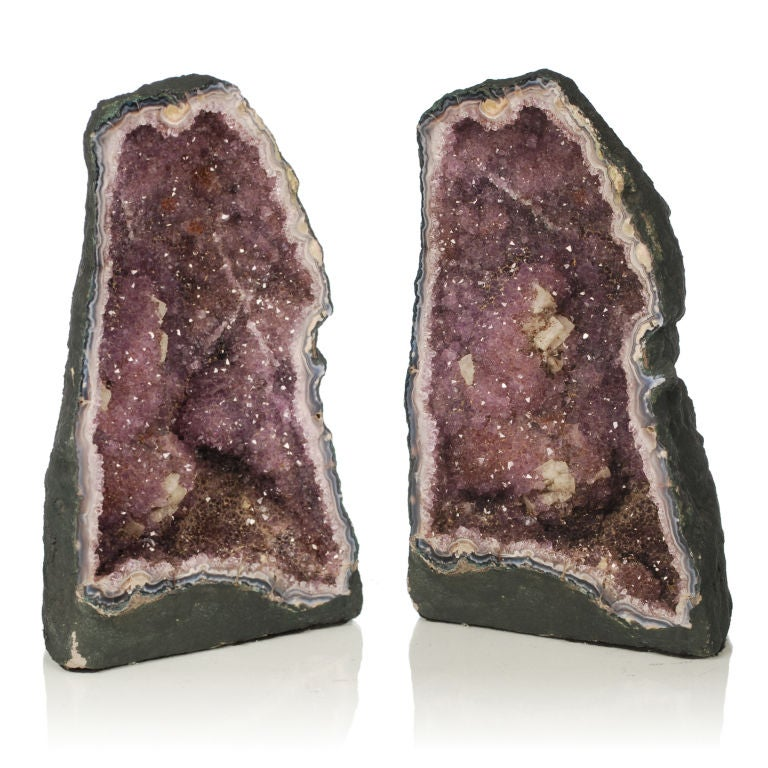 Two large Purple Amethyst Geodes from Brazil image 8