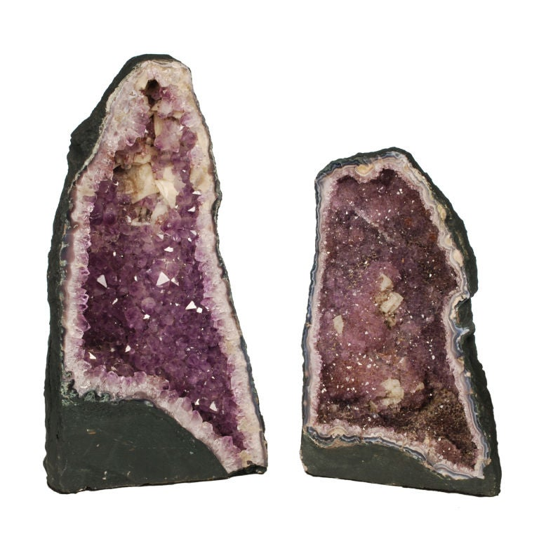 Two large Purple Amethyst Geodes from Brazil