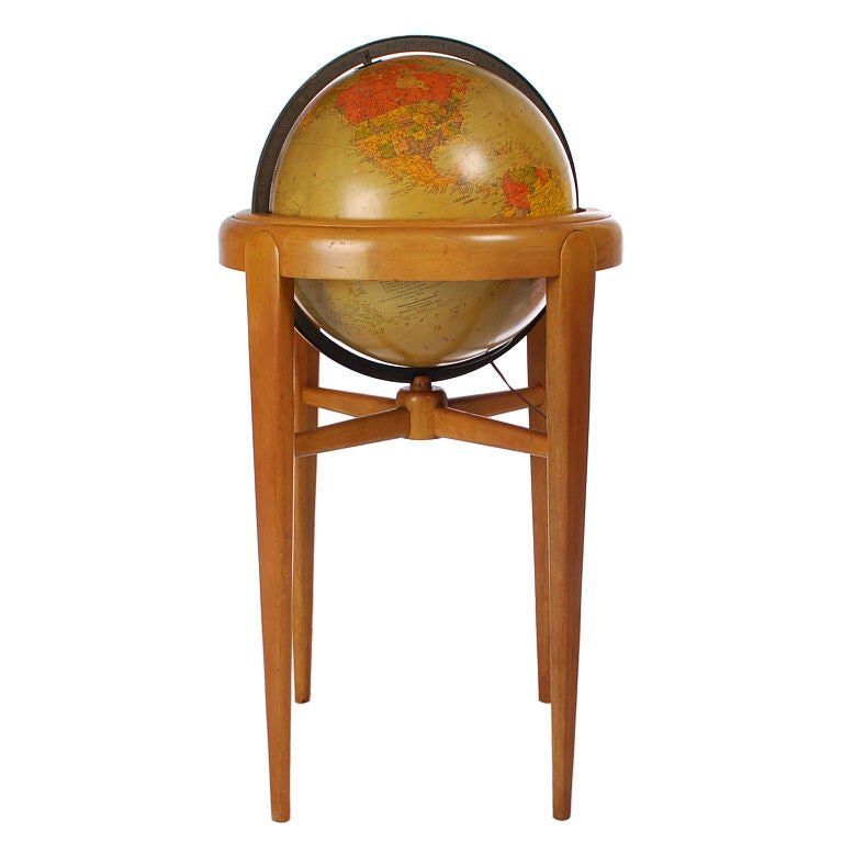 Mid Century Modern 16 Quot Lighted Library Globe By Replogle