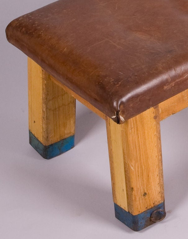 1940 39 S Leather Bench Coffee Table At 1stdibs