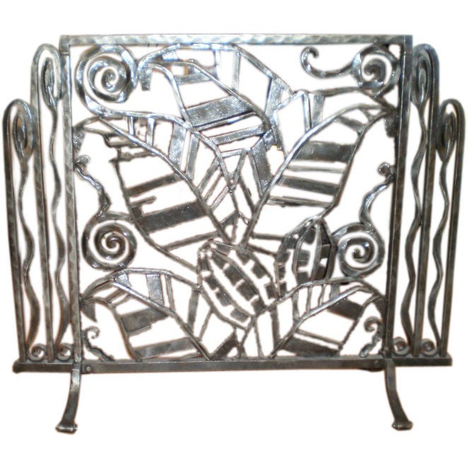 French Art Deco Fire Screen Attributed To Subes At 1stdibs