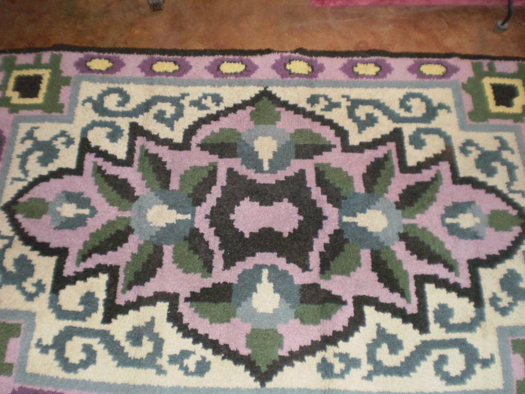 French Art Deco Rug in the Style of Jules Leleu For Sale 1