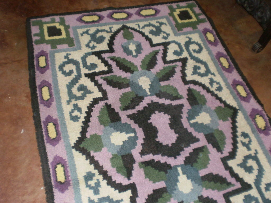Mid-20th Century French Art Deco Rug in the Style of Jules Leleu For Sale