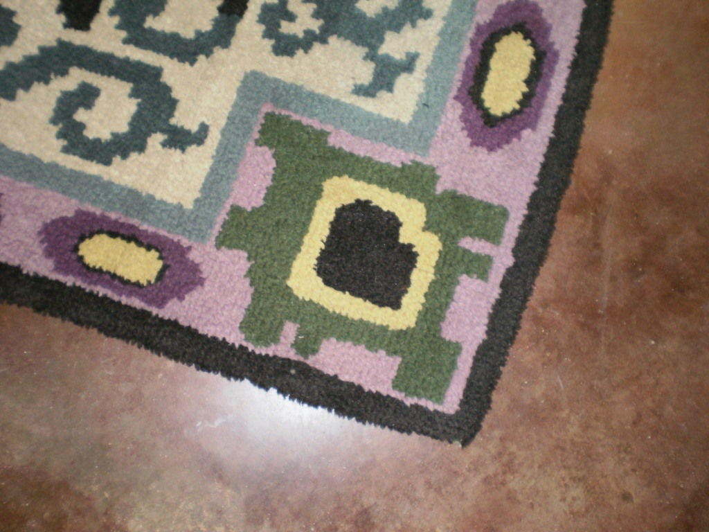 French Art Deco Rug in the Style of Jules Leleu For Sale 3