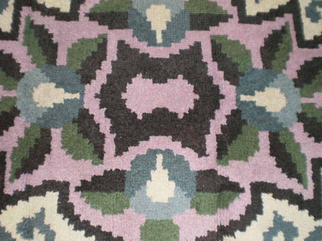 French Art Deco Rug in the Style of Jules Leleu For Sale 4