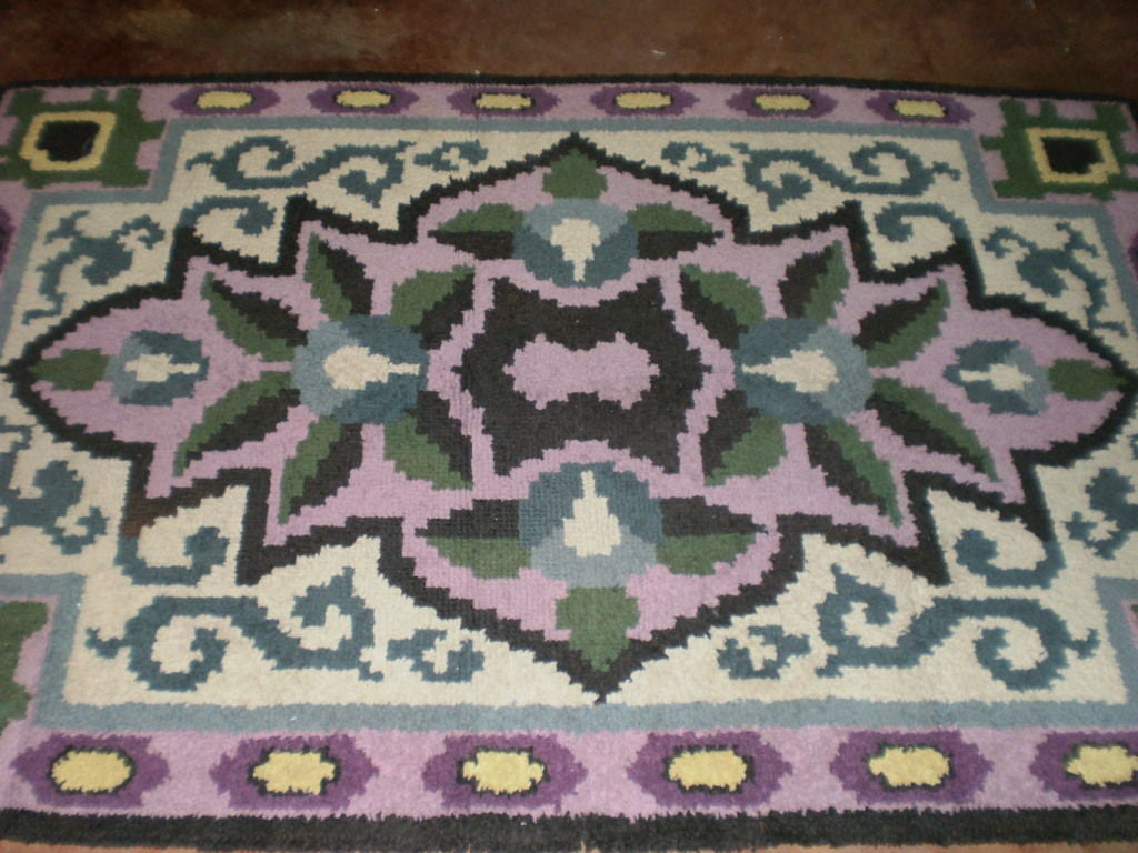 French Art Deco Rug in the Style of Jules Leleu For Sale 5