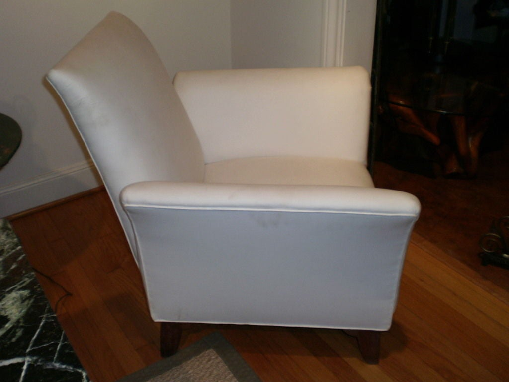 French Art Deco Walnut Club Chair Inspired by André Arbus In Good Condition For Sale In Houston, TX