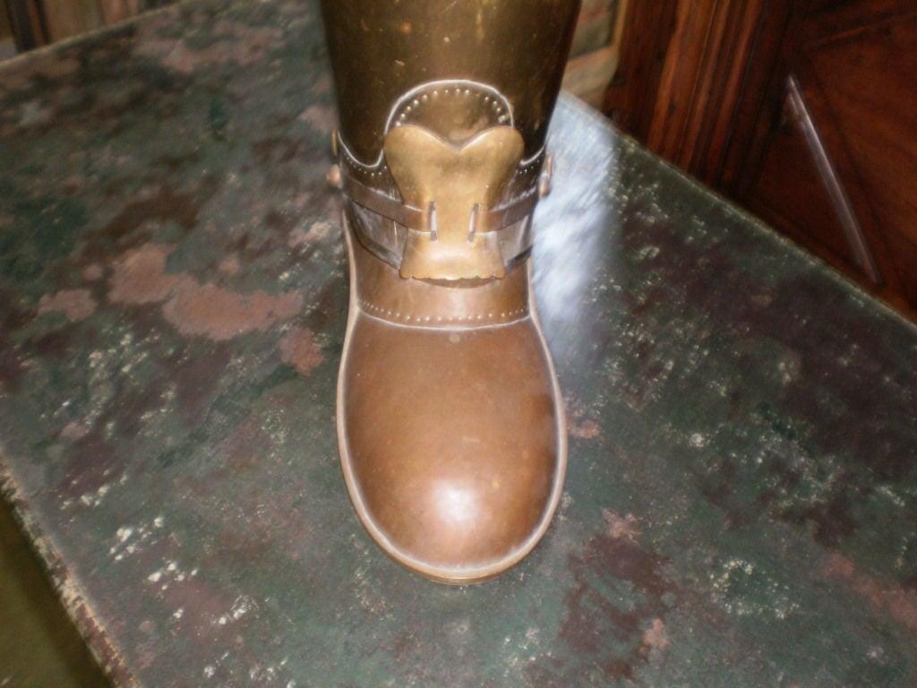 Brass Boot Umbrella Stand 2