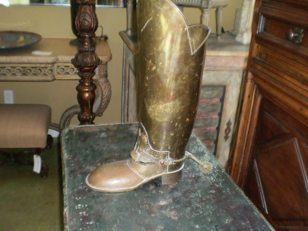 Brass Boot Umbrella Stand 3