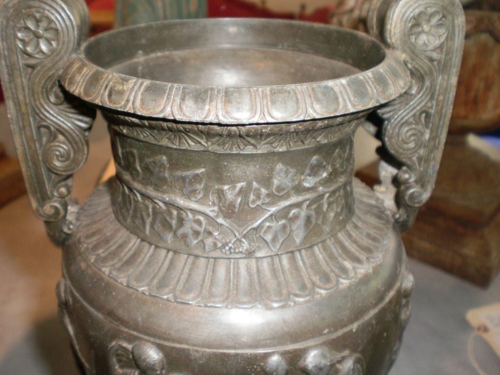 Pair Of Antique French Neoclassical Style Urns For Sale 1
