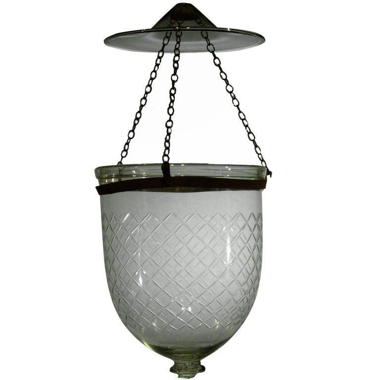 Antique Bell Jar Lantern For