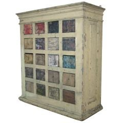 Artist Pigment Storage Cabinet