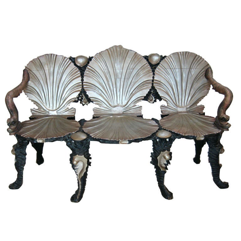 Grotto Settee Chair For Sale