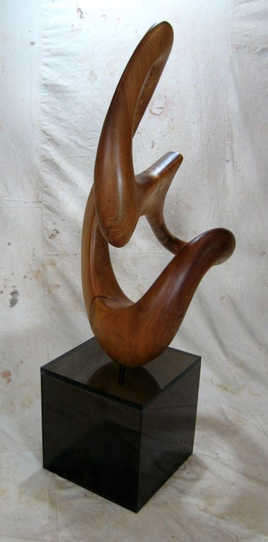 Abstract Wooden Sculpture At 1stdibs