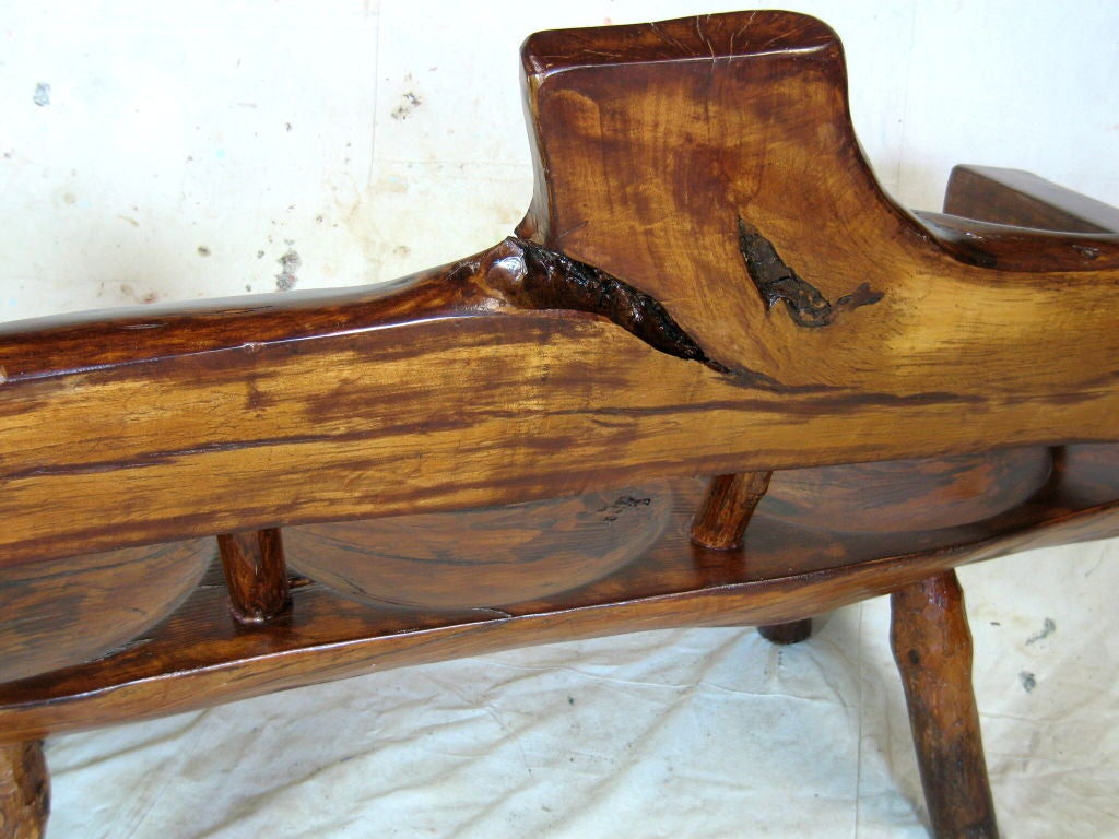 Rustic Log Bench For Sale At 1stdibs