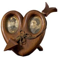 Carved Heart Frame