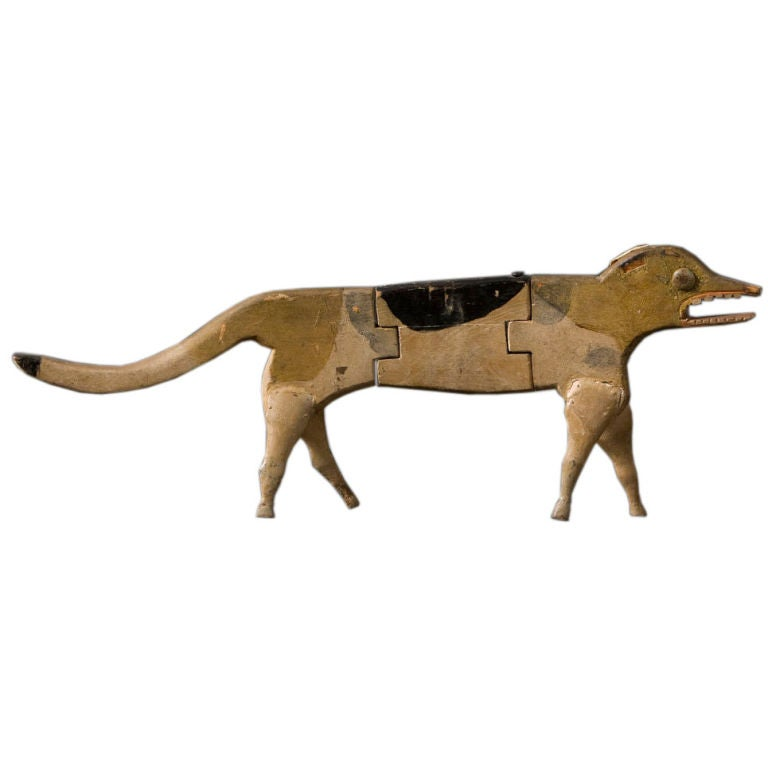 Jointed Wooden Dog