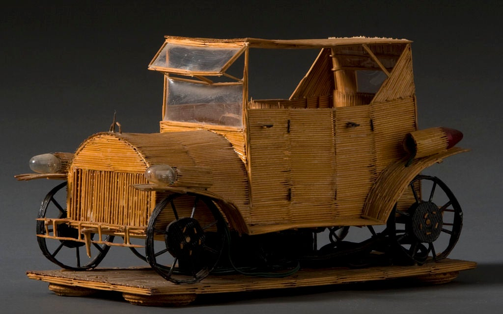 Wesley Stewart The King Of Toothpick Art Truck At 1stdibs