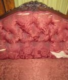 Late Victorian carved walnut sofa image 3