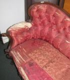 Late Victorian carved walnut sofa image 4