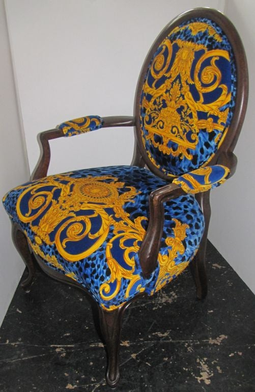 Versace Upholstered Arm Chair image 2